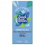 Seed & Bean Cornish Sea Salt Mørk Chokolade 70% Ø (85 g)