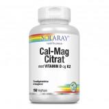 Solaray Cal-Mag Citrat med vitamin D og K2 (150 kap)
