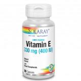 Solaray Dry E-Vitamin med Selen (100 kapsler)