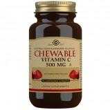 Solgar Vitamin C 500mg Tranebær/Hindbær (90 tab)