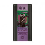 Vivani Chokolade Mørk med Hasselnødder Ø (100 gr)