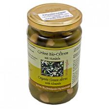 Oliven Grønne med Mandler Ø (320 gr)