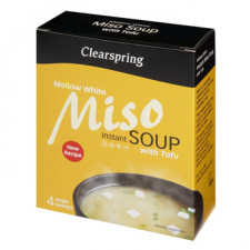 Clearspring Instant Miso Soup - Mellow White m. tofu 40 gr.