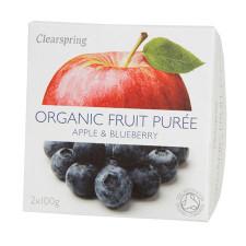 Clearspring Organic Frugtpuré Æble & Blåbær Ø (200 gr)
