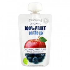 Æble/ Blåbær Fruit On The Go Ø (100 gr)