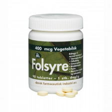 Folsyre 400 mcg 90 tabletter