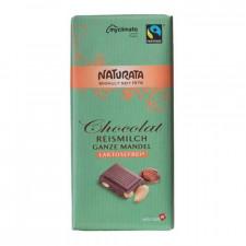 Naturata Laktosefri Chokolade Med Mandel Ø (100 gr)