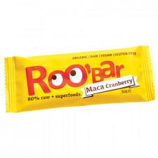 Bar Maca & Tranebær Roobar 100% Raw (30 gr)