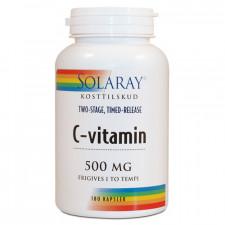 Solaray C-vitamin 500 mg (180 kapsler)