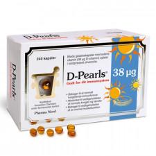 D-Pearls Stærk 38 µg (240 kapsler)