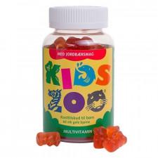 Kids Zoo multivitamin m. jordbærsmag (60 stk)