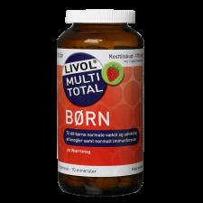 Livol Multi Total Børn - Jordbær (175 tyggetabletter)