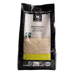Urtekram Hvide Basmati Ris fra Himalaya Fair Trade Ø (500 gr)