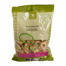 Urtekram Sprøde Bananchips Ø (200 gr)