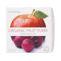 Clearspring Frugtpuré Blomme/Æble Ø (200 gr)
