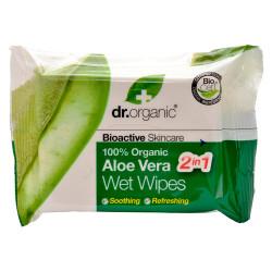 Dr. Organic Aloe Vera Wet Wipe (20 stk)