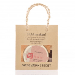 Hold Masken Gavepose indh. Rosa Ler. 50 gram rosa ler til ansigtsmaske (Illite)