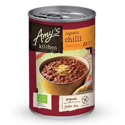 Amy's Kitchen Chili medium suppe m bønner, tofu Ø
