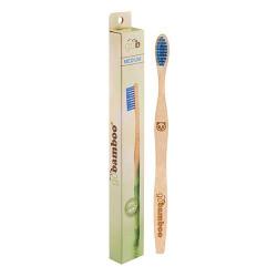 Go Bamboo Tandbørste Bambus Medium Voksne
