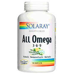 Solaray All Omega 3-6-9 (90 kapsler)