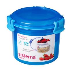 Madkasse breakfast to go  blå, pink, limegrøn Sistema