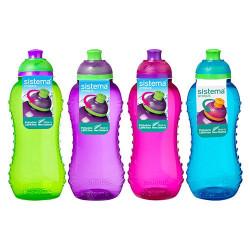 Drikkedunk 330 ml Twist'n sip Blå, pink, grøn, lilla. Sistema