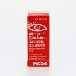 Allergodil Øjendråber 0,05% (6 ml)