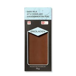 Økoladen Chokolade mørk mælk 47% Ø (75 g)