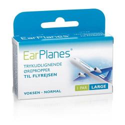 Earplanes - large Trykregulerende ørepropper af blød silikone (1 par)
