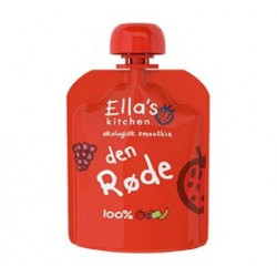 Ellas Kitchen Babymos Jordbær/Hindbær/Æbler/Banan Ø 6 Mdr (90 gr)