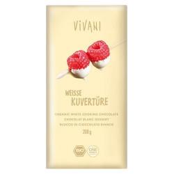 Vivani - Kuverture hvid overtrækschokolade Ø (220g)