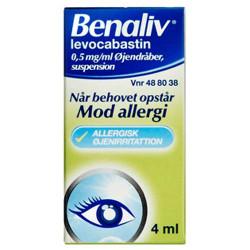 Benaliv Øjendråber 0,5 mg (4 ml)