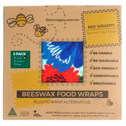 ee Wrappy Beeswax Food Wraps (3 Pack)