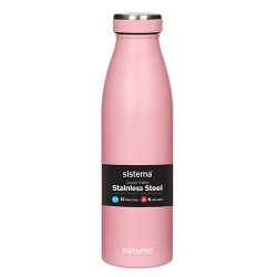 Drikkedunk m. termo steel lyseblå, blå, rosa, grøn, army, sort