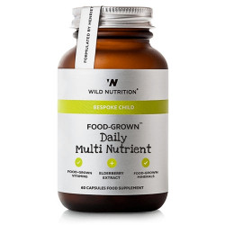Wild Nutrition Food-Grown Daily Multi Nutrient - Børn (60 kaps)