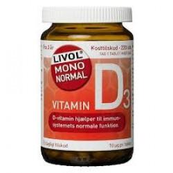 Livol Vitamin D 10 mcg (150 tabletter)