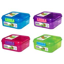Madkasse 1,25L Bento Blå, pink, lilla, grøn. Sistema
