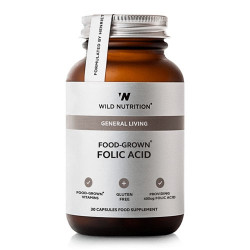 Wild Nutrition Food-Grown Folic Acid (30 kaps)