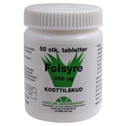 Folsyre 400 Âμg B9 (50 tab)