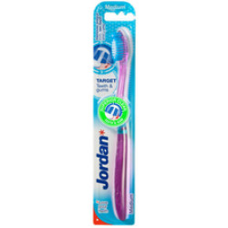 Tandbørsten har en blød børstehårdhed og et medium størrelse børstehoved. Børsterne i siderne på børstehovedet er blide og skånsomme ved tandkødet.