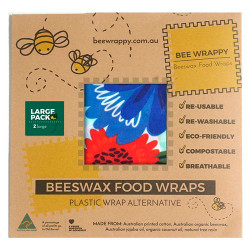 Bee Wrappy Beeswax Food Wraps (2 x Large)
