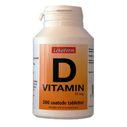Lekaform D-Vitamin (300 tabletter)