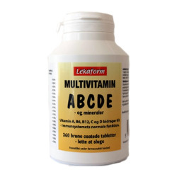 Lekaform Multivitamin ABCDE (360 tabletter)