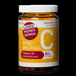 Livol Mono Normal C-vitamin 80 mg (250 tabletter)