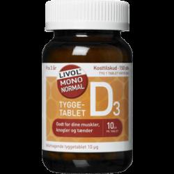 Livol Mono Normal D-vitamin - tyggetabletter (150 tabletter)