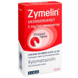 Zymelin Ukonserveret Næsespray 1 mg (2 x 10 ml)