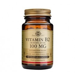 Solgar Riboflavin Vitamin B2 100 mg (100 kaps)