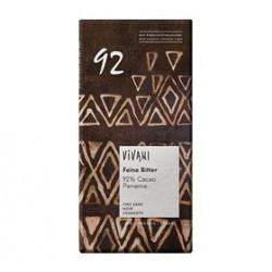 Vivani Ekstra Mørk Chokolade 92% Kakao Ø (100 gr)