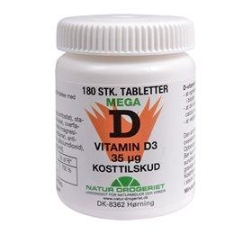 Image of Natur Drogeriet D-vitamin 35 ug (180 tabletter)