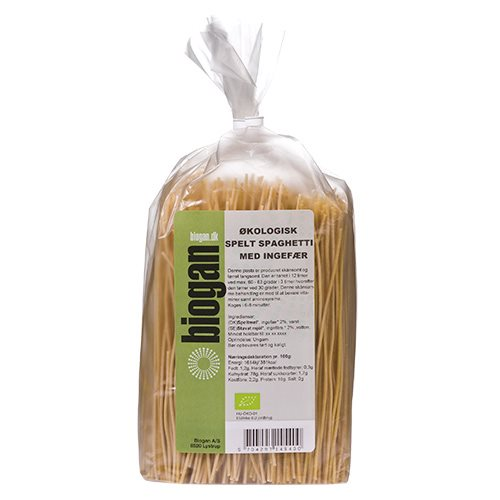 Image of Biogan Spelt Spaghetti m. Ingefær Ø (250 g)